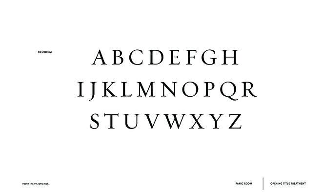 IMAGE: Typography -- Requiem typeface page