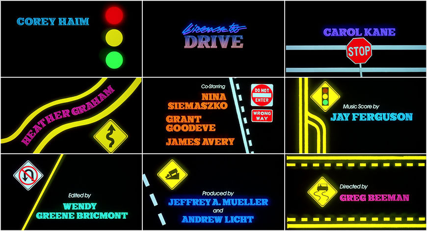 VIDEO: Title Sequence - License to Drive