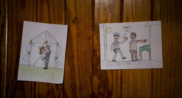 Frank's drawings from the film