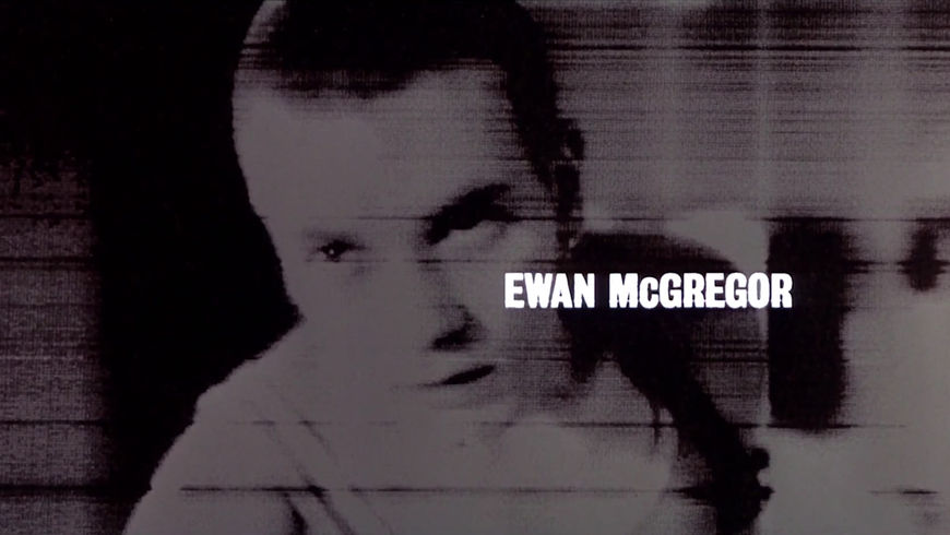 IMAGE: Still - Ewan McGregor's card in the end title sequence