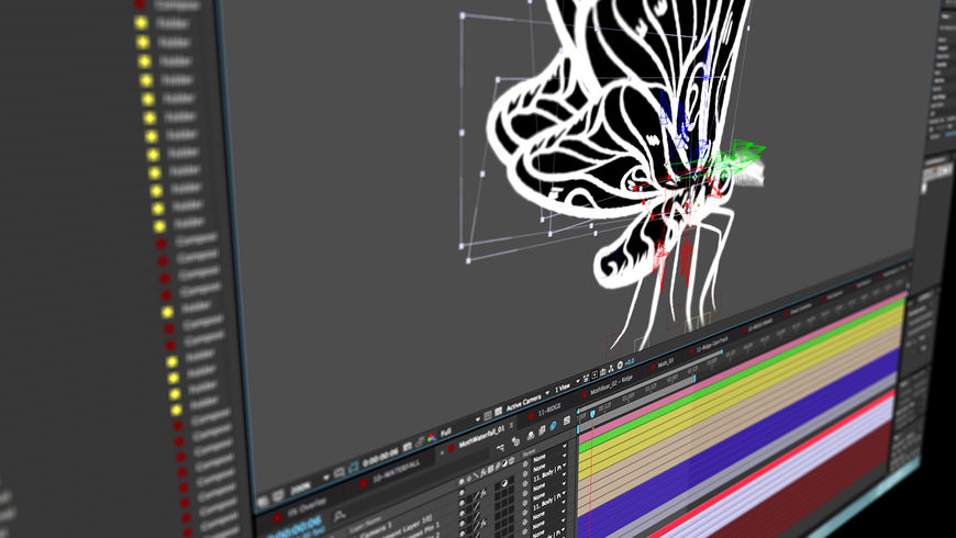 IMAGE: Screenshot – moth being animated