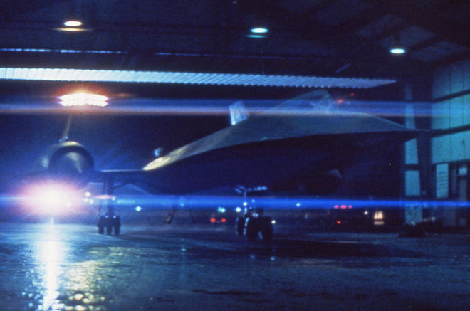 IMAGE: Two jets in hangar