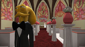 IMAGE: Octodad church level screenshot