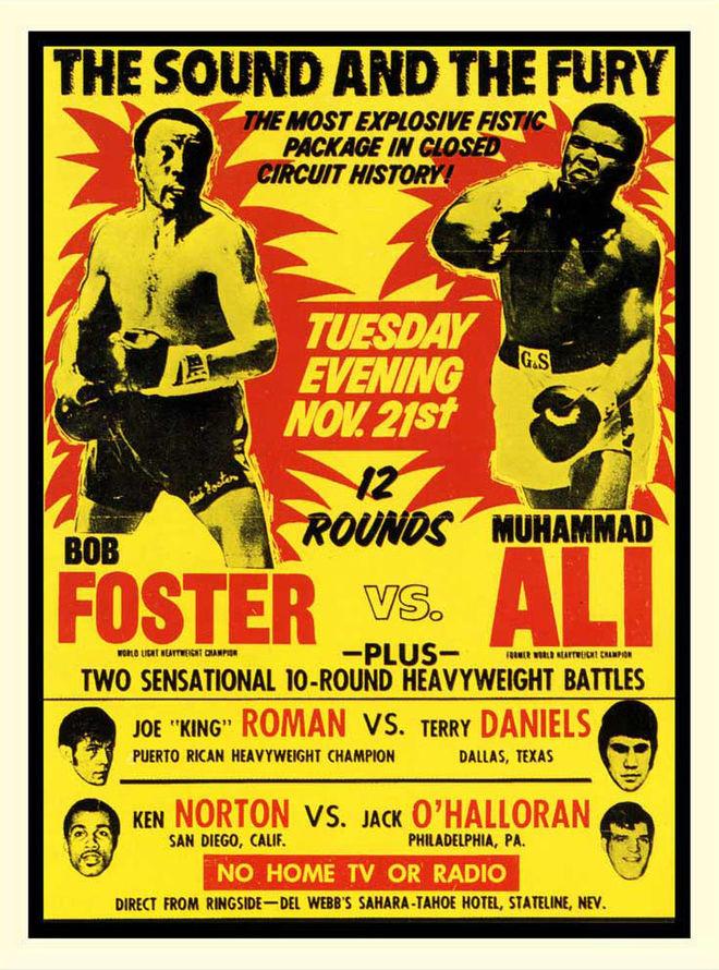 I: Foster vs. Ali poster