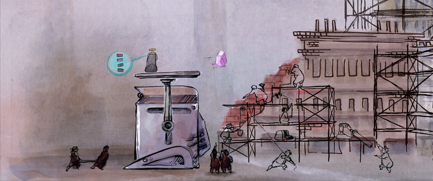 Wall-E - scaffolding