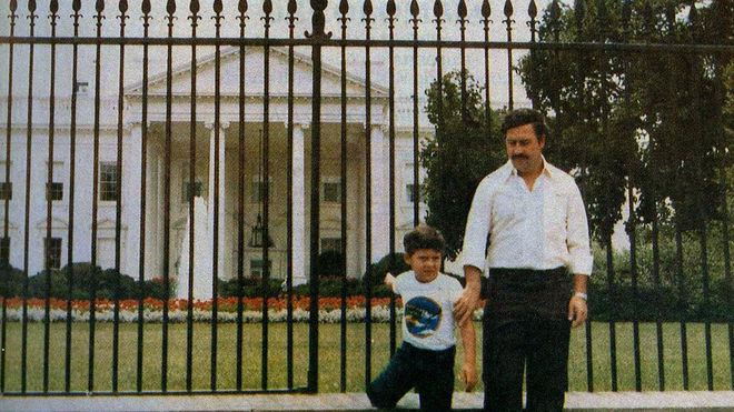 IMAGE: Pablo Escobar White House Photo