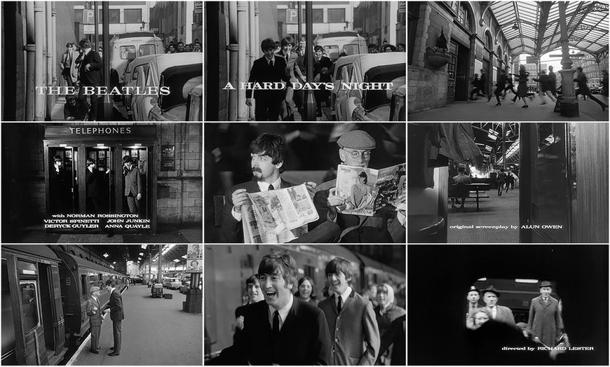 VIDEO: Title Sequence - A Hard Day's Night (1964) main titles