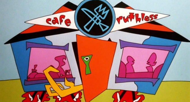 IMAGE: Cafe Ruthless final scene of title sequence