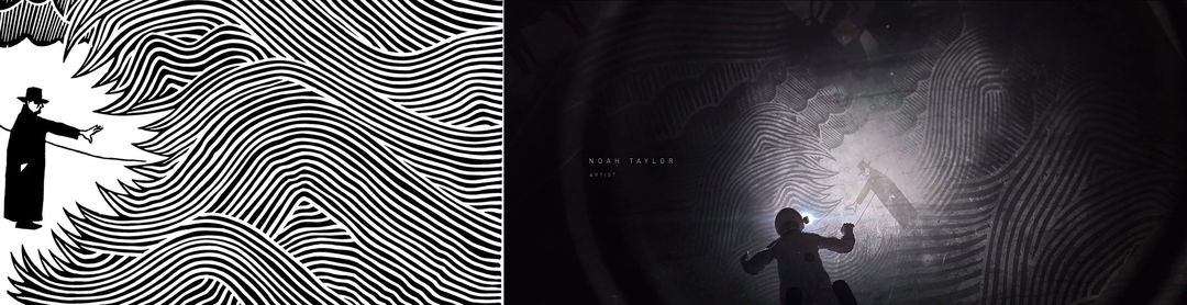 IMAGE: Stanley Donwood The Eraser album cover