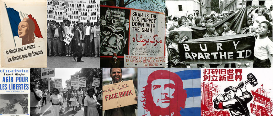 IMAGE: Research references of propaganda and revolution posters