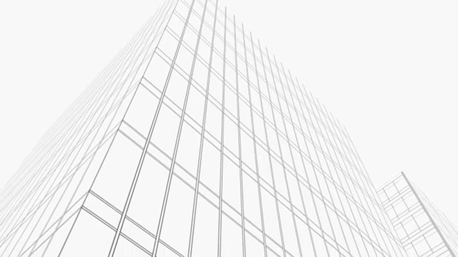 Wireframe skyscrapers