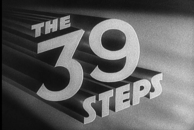 IMAGE: The 39 Steps Title Card