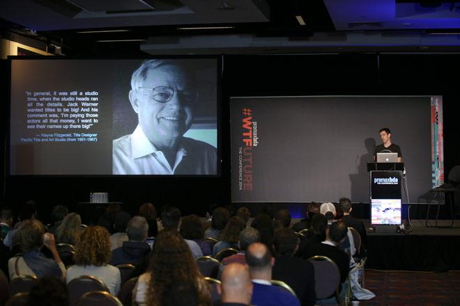 IMAGE: Ian presenting at PromaxBDA 2014