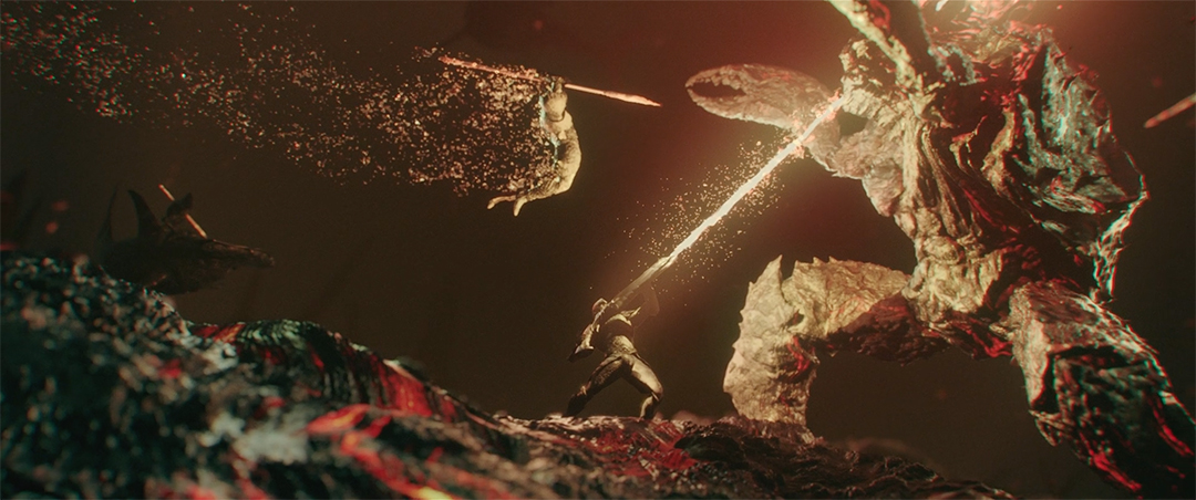 IMAGE: Still - 0011 Battle with spear jump