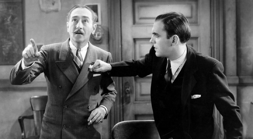 IMAGE: Still - Adolphe Menjou and Pat O'Brien in The Front Page (1931)